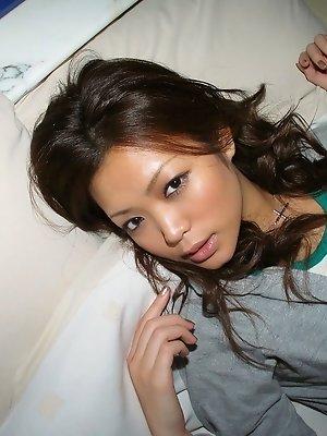 Hot Asian slut enjoys a long hot shower and a little masturbation before date