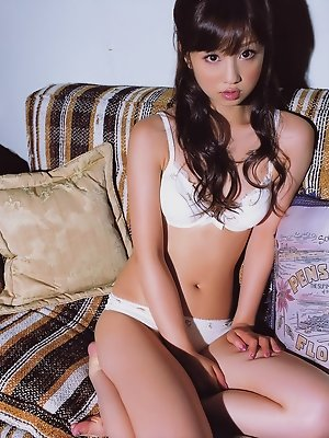 Deliciously beautiful asian angel seduces in her skimpy lingerie